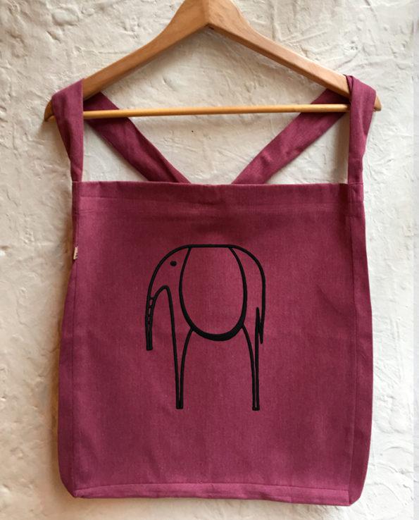 Bolsa bordada elefante