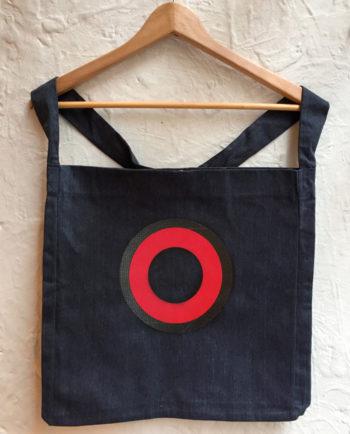 Bolsa bordada círculos abstractos