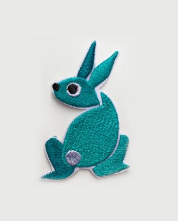 Parche bordado silueta conejo