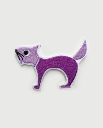 Parche bordado silueta gato