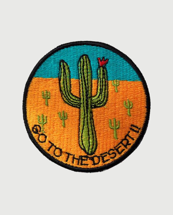 Parche bordado circular Go to the Desert