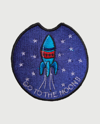 Parche bordado circular Go to the Moon