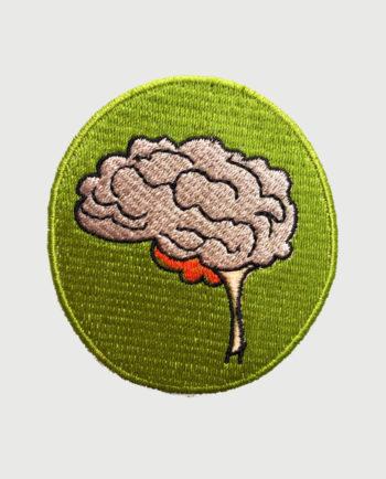 Parche bordado circular cerebro