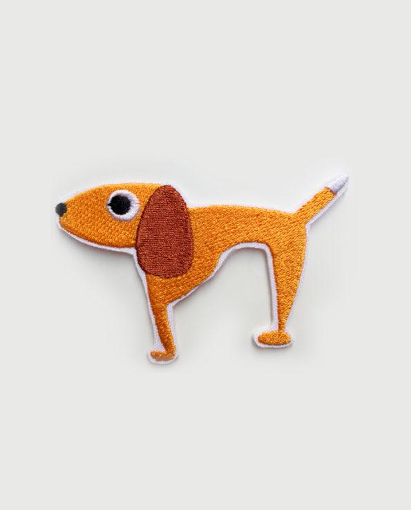Parche bordado silueta perro