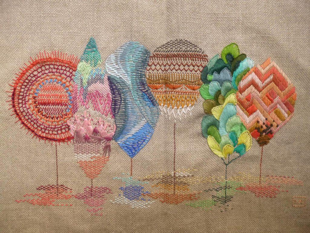 Ilustraciones bordadas de Yolanda Andrés