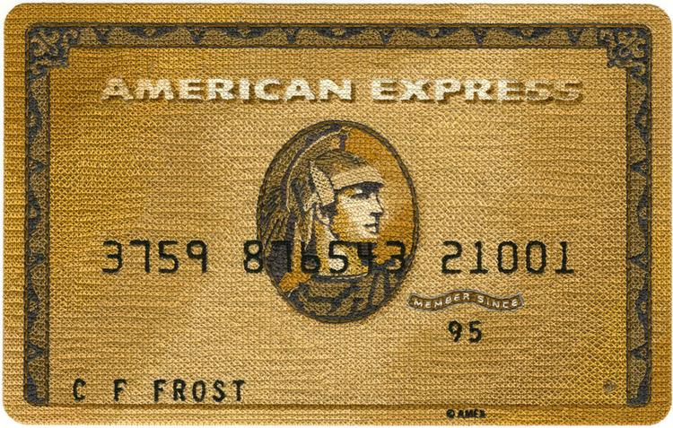 Tarjeta Platinum de American Express bordada por Inje Jacobsen
